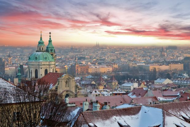 prague-winter-pink-sky